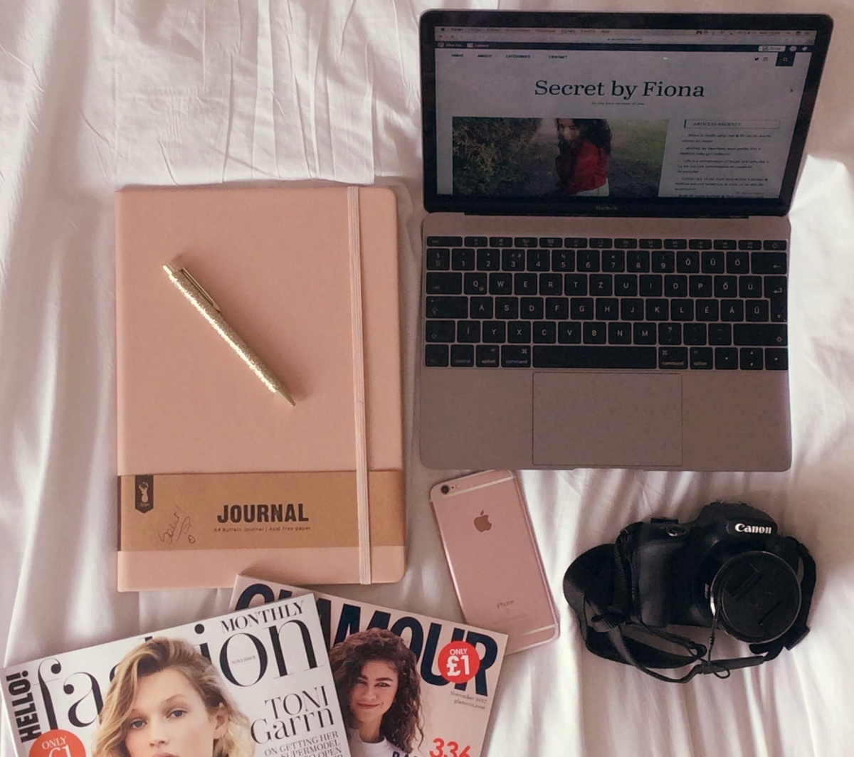 Ce que j'ai besoin pour mon blog ▿ What I need for my blog